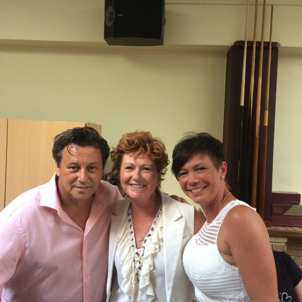 Met Peggy en Giovanni
